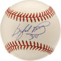 "Autographs:Baseballs, Gaylord Perry ""314"" Single Signed Baseball. Often accused ofcheating, Gaylord Perry frustrated batters and umpires who con..."