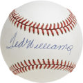Autographs:Baseballs, Ted Williams Single Signed Baseball. Legibility is far from anissue with the current offering -- an exceptional single from...