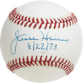 "Autographs:Baseballs, Jesse Haines ""Single Signed"" Baseball. Signed and dated on ""8/22/73,"" just three years after his Hall of Fame induction, th..."