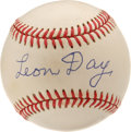 Autographs:Baseballs, Leon Day Single Signed Baseball. This HOF'er had a dominating fastball and a wicked curve. He was an all around great athl...