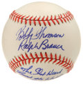 "Autographs:Baseballs, Bobby Thomson and Ralph Branca ""The Shot Heard Round the World""Dual-Signed Baseball. Dubbed the most dramatic moment in th..."