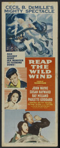 "Movie Posters:Adventure, Reap the Wild Wind (Paramount, R-1954). Insert (14"" X 36"").Adventure. Starring John Wayne, Ray Milland, Paulette Goddard, R..."
