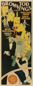 "Movie Posters:Horror, Freaks (MGM, 1932). Insert (14"" X 36"").. ..."
