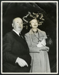 "Movie Posters:Hitchcock, Alfred Hitchock with Hedda Hopper (1940s). Photo (11"" X 14"").Hitchcock.. ..."