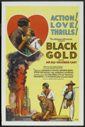 "Movie Posters:Black Films, Black Gold (Norman, 1928). One Sheet (27"" X 41""). Black Films.. ..."