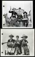 "Movie Posters:Comedy, The Marx Brothers in ""Go West"" by Clarence Bull (MGM, 1940).Keybook Stills (4) (8"" X 10""). Comedy.. ... (Total: 4 Items)"