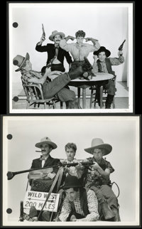 """The Marx Brothers in """"Go West"""" by Clarence Bull (MGM, 1940). Keybook Stills (4) (8"""" X 10""""). Comedy..."""