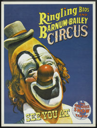 """Circus Poster (Ringling Brothers, circa 1960s). Poster (20.5"""""""" X 26.5""""). Miscellaneous"""