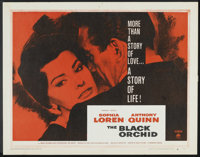 "The Black Orchid (Paramount, 1958). Half Sheet (22"" X 28"") Style A. Romance"