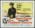 "Movie Posters:War, The Gallant Hours (United Artists, 1960). Half Sheet (22"" X 28"")Style B. War.. ..."