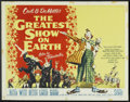 """Movie Posters:Drama, The Greatest Show On Earth (Paramount, 1952). Half Sheet (22"""" X 28"""") Style A. Drama.. ..."""
