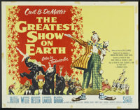"""The Greatest Show On Earth (Paramount, 1952). Half Sheet (22"""" X 28"""") Style A. Drama"""
