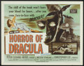 "Movie Posters:Horror, Horror of Dracula (Universal International, 1958). Half Sheet (22""X 28""). Horror.. ..."
