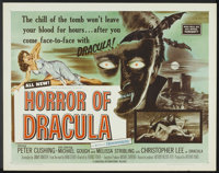 "Horror of Dracula (Universal International, 1958). Half Sheet (22"" X 28""). Horror"