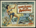 "Movie Posters:Adventure, Love-Slaves of the Amazons (Universal International, 1957). HalfSheet (22"" X 28""). Adventure.. ..."