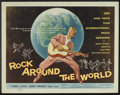 "Movie Posters:Rock and Roll, Rock Around the World (American International, 1957). Half Sheet(22"" X 28""). Rock and Roll.. ..."