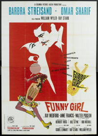 "Funny Girl (Columbia, 1968). Italian 4 - Folio (55"" X 78""). Musical"