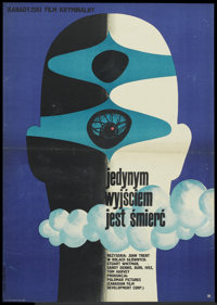 """The Man Who Wanted to Live Forever (CWF, 1970s). Polish One Sheet (22.5"""" X 32""""). Thriller"""