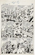 Original Comic Art:Panel Pages, Jack Kirby and George Roussos Sgt. Fury #7, page 19 OriginalArt (Marvel, 1964)....