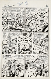 Jack Kirby and George Roussos Sgt. Fury #7, page 19 Original Art (Marvel, 1964)