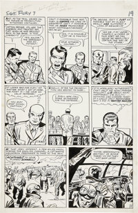 Jack Kirby and George Roussos Sgt. Fury #7, page 15 Original Art (Marvel, 1964)
