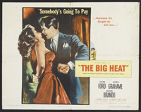 "The Big Heat (Columbia, 1953). Half Sheet (22"" X 28""). Film Noir"