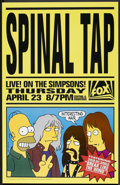 "Movie Posters:Animated, The Simpsons: Spinal Tap (20th Century Fox, 1992). One Sheet (27"" X40""). Animated.. ..."