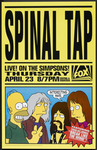 """The Simpsons: Spinal Tap (20th Century Fox, 1992). One Sheet (27"""" X 40""""). Animated"""