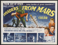 "Movie Posters:Science Fiction, Invaders From Mars (20th Century Fox, 1953). Half Sheet (22"" X28""). Science Fiction.. ..."