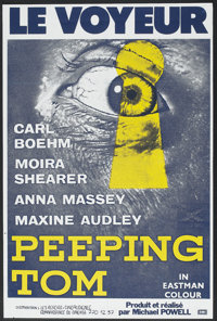 "Peeping Tom (EMI, R-1980s). French Poster (31"" X 46""). Horror"