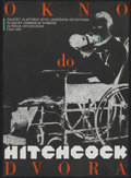 """Movie Posters:Hitchcock, Rear Window (Paramount, R-1990). Czech Poster (11.75"""" X 16.5""""). Hitchcock.. ..."""