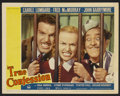"Movie Posters:Comedy, True Confession (Paramount, 1937). Lobby Cards (2) (11"" X 14""). Comedy.. ... (Total: 2 Items)"