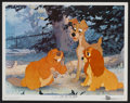 "Movie Posters:Animated, Lady and the Tramp (Buena Vista, 1955). Lobby Card (11"" X 14"").Animated.. ..."