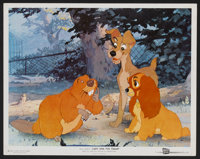 """Lady and the Tramp (Buena Vista, 1955). Lobby Card (11"""" X 14""""). Animated"""