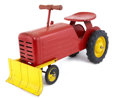 Antiques:Toys, Large Red Riding Bulldozer....