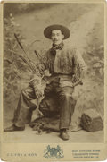 Photography:Cabinet Photos, [Western Americana] Cowboy Cabinet Card....