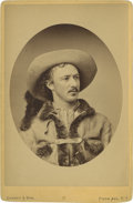 "Photography:Cabinet Photos, Exceptional Cabinet Portrait by Gurney & Son of ""Texas Jack""Omohundro, Famed Frontier Scout, Cowboy, and actor, Circa 1875..."