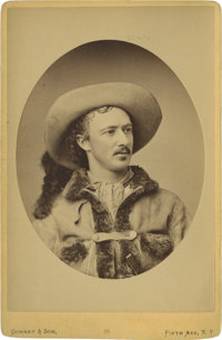 """Exceptional Cabinet Portrait by Gurney & Son of """"Texas Jack"""" Omohundro, Famed Frontier Scout, Cowboy, and..."""