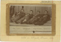 "Photography:Cabinet Photos, Rare Albumen View of the Four Dalton Gang Fatalities after the Infamous Coffeyville Kansas Raid, Circa 1892/3. 3 7/8"" x 5½""...."