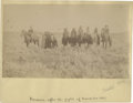 """Photography:Cabinet Photos, Historically Important Albumen View with Period Ink ID,""""Prisoners after the fight of November 1887"""". 4 5/8"""" x 7..."""