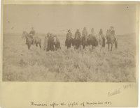 """Historically Important Albumen View with Period Ink ID, """"Prisoners after the fight of November 1887"""