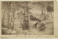 "Photography:Cabinet Photos, Very Nice Albumen View of Three Vaqueros on a Hunting Expedition.4¼"" x 6¾"" ..."