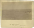 """Photography:Cabinet Photos, Albumen View with Period Ink ID on the Mount, """"The Crow Agency/in the distance the Wolf Mtns./ where Custer fell""""..."""
