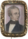 Political:3D & Other Display (pre-1896), John Tyler: Absolutely Stunning, Superb Portrait Brooch Pin....