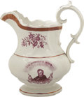 "Political:3D & Other Display (pre-1896), William Henry Harrison: ""Our Country's Hope"" Large 1840 Pitcher...."
