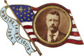 Political:Ribbons & Badges, Theodore Roosevelt: 1904 St. Louis World's Fair Portrait Badge....