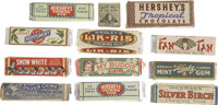 Large Collection of Vintage Gum Wrappers, Packs, Advertising