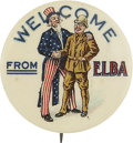 Political:Pinback Buttons (1896-present), Theodore Roosevelt: Uncle Sam Welcomes Teddy Home from HisTravels....