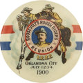 Political:Pinback Buttons (1896-present), Theodore Roosevelt: Probably the Finest Attainable Example of this Spectacular 1900 Vice Presidential Pinback. ...