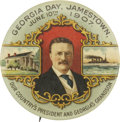 "Political:Pinback Buttons (1896-present), Theodore Roosevelt: The Gorgeous 2 1/8"" ""Georgia Day"" One-Day EventButton. ..."